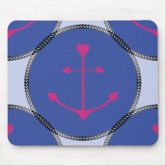 Tapis De Souris Souris Pad_Nautical_Anchors_RB