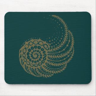Tapis De Souris Spirale organique bronzage