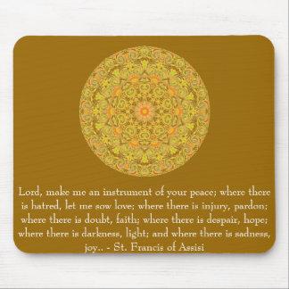 Tapis De Souris St Francis d'Assisi au sujet de la FOI