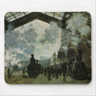 Tapis De Souris Station de Lazare de saint par Claude Monet