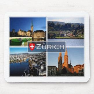 Tapis De Souris Suisse de ch - Suisse - Zurich - la nuit -