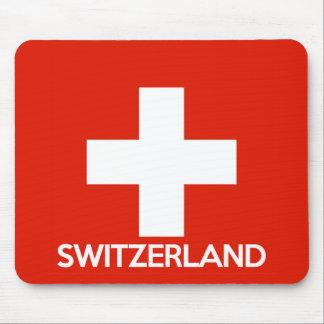 Tapis De Souris Suisse des textes de nom de symbole de drapeau de