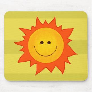 Tapis De Souris Sun de sourire heureux