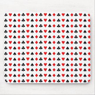 Tapis De Souris Symboles de cartes de jeu de poker