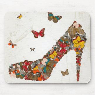 Tapis De Souris Talons hauts colorés de papillons