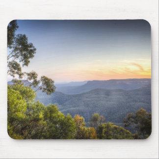 Tapis De Souris Tapis bleu de souris des montagnes de l'Australie