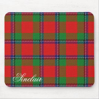 Tapis De Souris Tartan écossais majestueux de Sinclair de clan