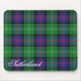 Tapis De Souris Tartan écossais majestueux de Sutherland de clan