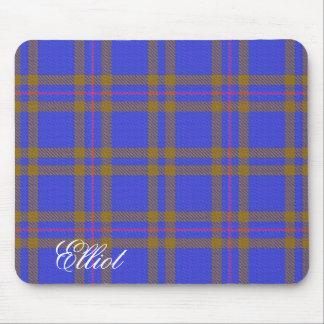 Tapis De Souris Tartan écossais majestueux d'Elliot de clan