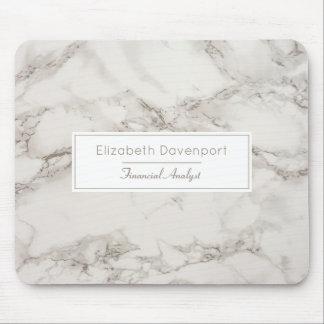 Tapis De Souris Taupe de marbre Tan d'albâtre de Faux moderne