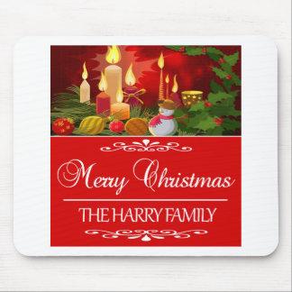 Tapis De Souris Tendre la conception de Noël de famille de Harry