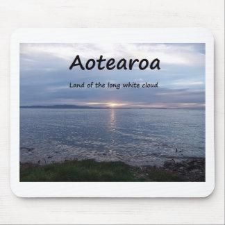 Tapis De Souris Terre d'Aotearoa du long nuage blanc