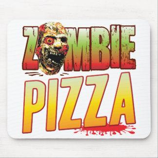 Tapis De Souris Tête de zombi de pizza