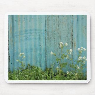 Tapis De Souris texture bleue de barrière de peinture de nature de