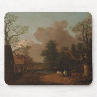 Tapis De Souris Thomas Gainsborough - paysage avec la trayeuse