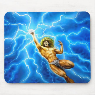 Tapis De Souris Thor bleu de Zeus de foudre de mythologie d'un