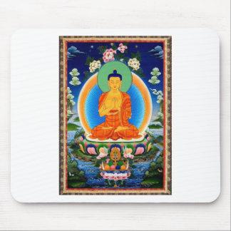 Tapis De Souris Tibétain Thangka Prabhutaratna Bouddha