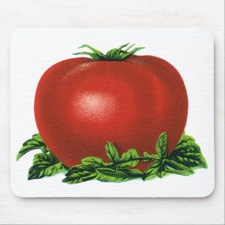 Tapis De Souris Tomate mûre rouge vintage, légumes et fruits