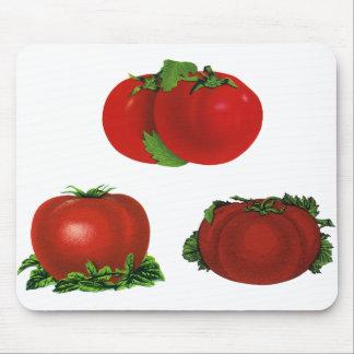 Tapis De Souris Tomates mûres rouges vintages nourriture, fruits,
