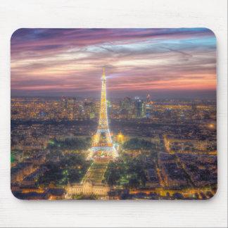 Tapis De Souris Tour Eiffel la nuit, Paris France