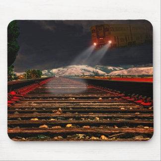 Tapis De Souris Train de nuit au-dessus de voie de R/R, mousepad