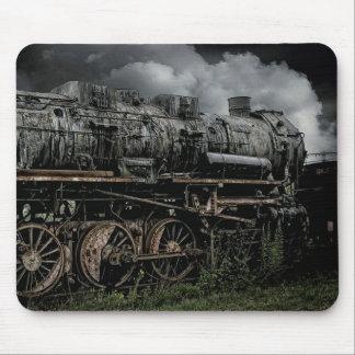Tapis De Souris Train locomotif antique Mousepad de machine à