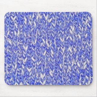 Tapis De Souris Tricot blanc bleu - Mousepad