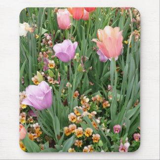 Tapis De Souris Tulipes et pensées