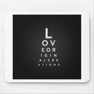 Tapis De Souris Typographie d'amour