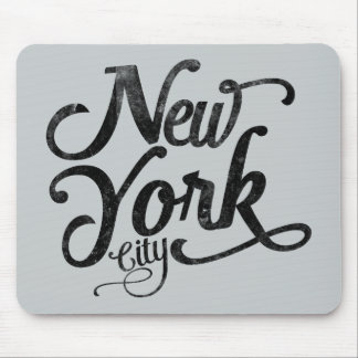 Tapis De Souris Typographie de cru de New York City