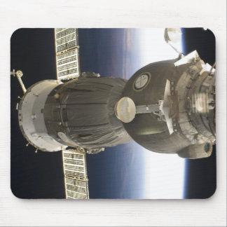 Tapis De Souris Un vaisseau spatial de Soyuz backdropped par la