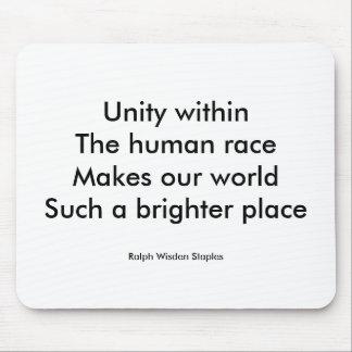 Tapis De Souris Unité de race humaine