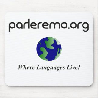 Tapis De Souris URL de Parleremo avec le globe