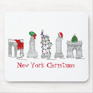 Tapis De Souris Vacances Mousepad du Joyeux Noël NYC de New York