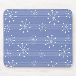 Tapis De Souris Vacances rayées Mousepad de flocons de neige