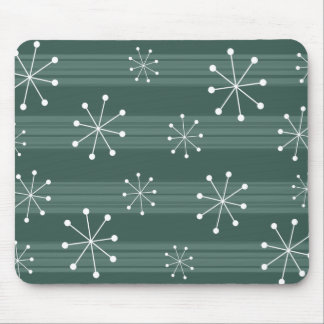 Tapis De Souris Vacances rayées Mousepad de flocons de neige de