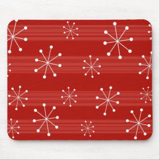 Tapis De Souris Vacances rayées rouges lumineuses Mousepad de