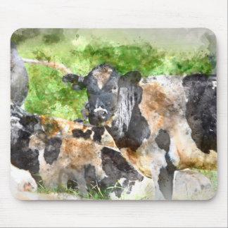 Tapis De Souris Vaches dans le domaine