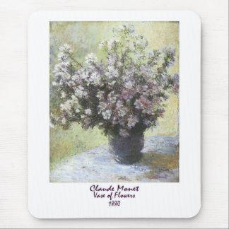Tapis De Souris Vase de fleurs par Claude Monet