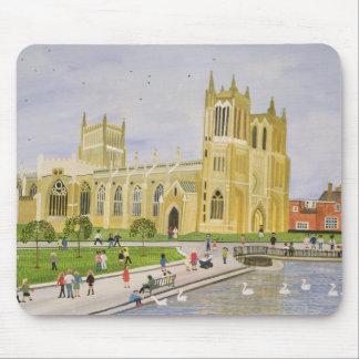 Tapis De Souris Vert 1989 de cathédrale et d'université de Bristol