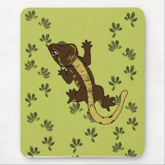 Tapis De Souris vert d'empreintes de pas de crestie (mousepad)