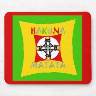 Tapis De Souris Vert d'or rouge de couleur de Hakuna Matata Rasta