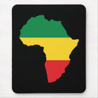Tapis De Souris Vert, or et drapeau rouge de l'Afrique