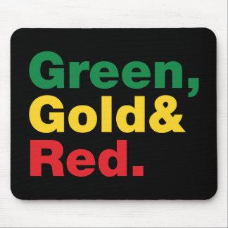 Tapis De Souris Vert, or et rouge