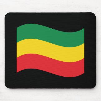 Tapis De Souris Vert, or (jaune) et drapeau de couleurs rouges