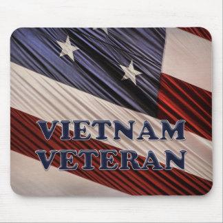 Tapis De Souris Vétéran patriote militaire du Vietnam de drapeau