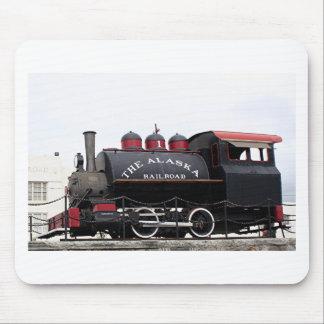 Tapis De Souris Vieille machine à vapeur de chemin de fer de