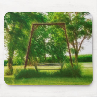 Tapis De Souris Vieille oscillation mystique dans un jardin