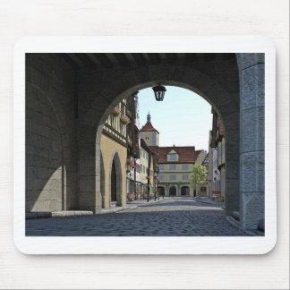 Tapis De Souris Ville de la Bavière par une voûte