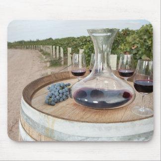 Tapis De Souris Vin rouge dans le vignoble
